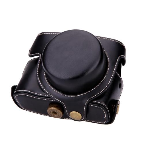 Fest Leder Kamera Tasche mit Trageriemen für Canon G1XM2