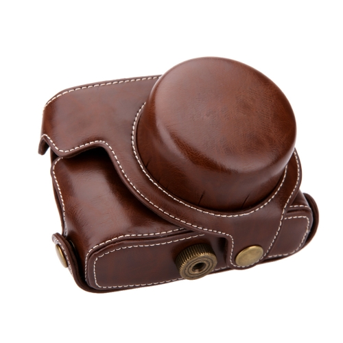 Hard Leather Camera Case Bag with Strap for Canon G1XM2