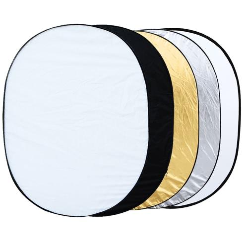 59,1 * 78.7in / 150 * 200cm 5 in 1 tragbare Fotografie Studio Multi Photo Ellipse Collapsible Licht-Reflektor