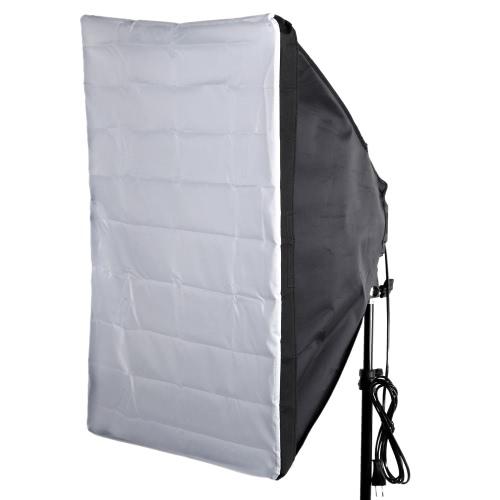 Andoer  50x70 / 60x60 / 60x90 3サイズ選択可能  四角型 傘型 ソフトボック スリフレクター+電球ホルダーセット  撮影用 スピードライト用【並行輸入品】