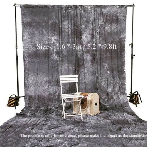 Photography Studio Video 1.6 * 3m / 5.2 * 9.8ft Tie Dyed 100% Cotton Muslin Backdrop Background Screen