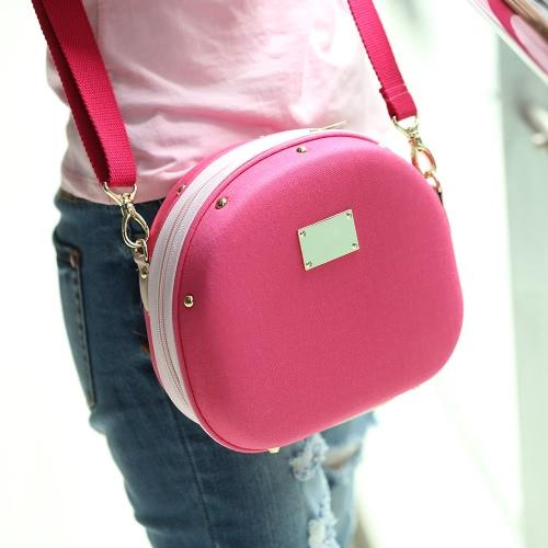 Rose Camera Bag Hamburger Shape Bag Single-shoulder Bag with Large Volume for Fujifilm Mini7s/25/50s/55/90 Cameras D2508RO