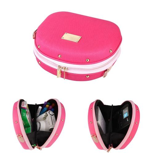 Andoer Rose Kameratasche Hamburger Shaped Tasche Einzel Schultertasche mit großem Volumen für Fujifilm Mini-7s / 25 / 50s / 55/90 Kameras