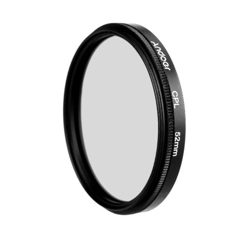 Zestaw filtrujący Circular Filter Andoer 52mm UV + CPL + ND8 Okrągły filtr polaryzacyjny ND8 Neutralny