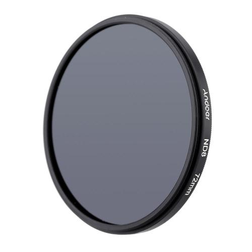 Andoer 72mm UV+CPL+ND8 Circular Filter Kit Circular Polarizer Filter ND8 Neutral Density Filter with Bag for Nikon Canon Pentax Sony DSLR Camera D2517