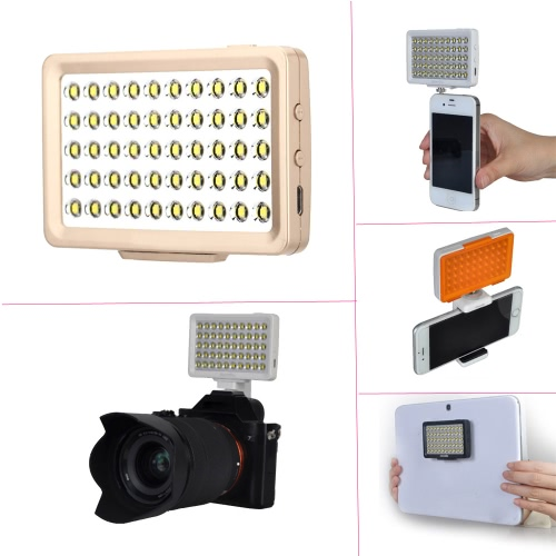 Commlite CoMiray CM-L50 Multi-functional Mini LED Video Light Portable Spotlight Pocket Fill-Light Samrtphone Selfie Light for Cellphone/Pad/DSLR/Gopro cameras