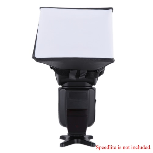 Photographie portable Flash Kit Mini Softbox diffuseur pour Flash Canon EOS Nikon Olympus DSLR de Pentax Sony Sigma flash Speedlite