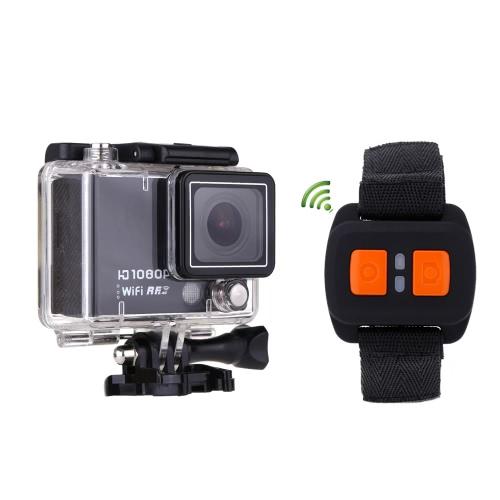 AT300 Мини-WiFi видеокамера Камера действий 2.0» экран 30 M водонепроницаемый 1080P / 60FPS 160 градусов широкоугольный объектив Спорт Дайвинг DV видео DVR с пульта дистанционного управления часы