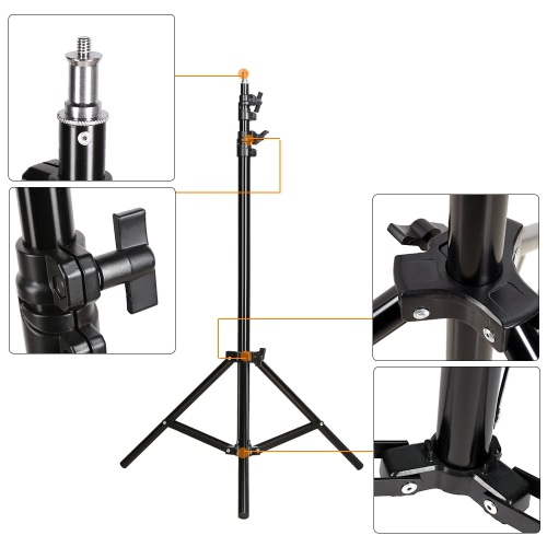 1.9m / 6.2ft Photo Studio Light Stand with 1/4