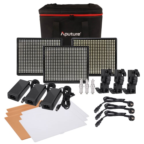 Aputure Amaran 1 * H528S + 2 * H528W LED Lampa wideo Zestaw CRI95 + 528 Led panel