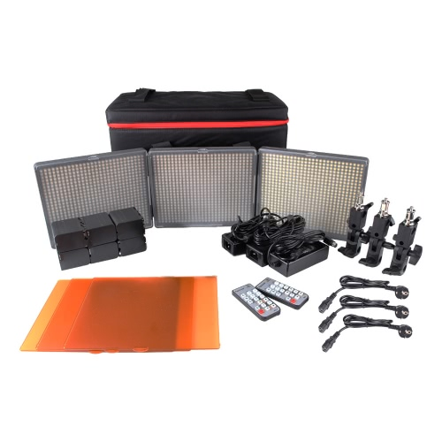 Aputure Amaran 1 * H672S + 2 * H672W LED Video Light Set CRI95 + 672 Led Panel de luz