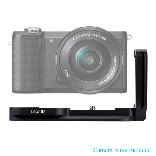 LB-A5000 L-Shaped Vertical Metal Quick Release Plate Camera Bracket & Hand Grip for Sony A5000 Camera