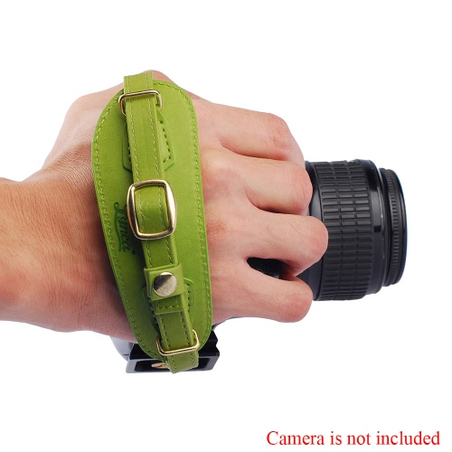 LYNCA Camera Hand Strap PU Leather with Metal Quick Release Plate for Canon Nikon Sony Pentax SLR DSLR Cameras