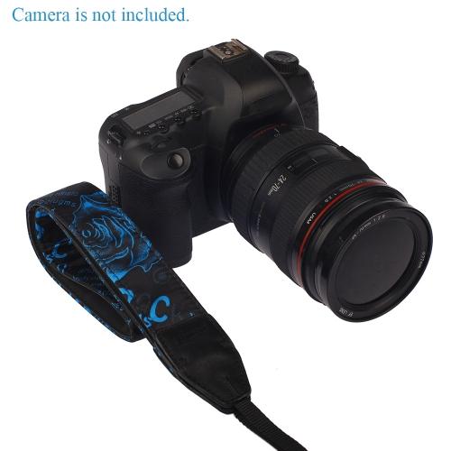 LYNCA Rose Series Universal Camera Shoulder Neck Strap Belt Genuine Leather Polyester Cotton for SLR DSLR Canon Sony Nikon