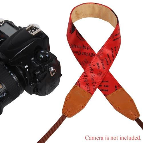 LYNCA Rose Series Uniwersalny pasek Pasek na Ramię Pasek Oryginalny Skóra Poliester Bawełna do Lustrzanek DSLR Canon Sony Nikon