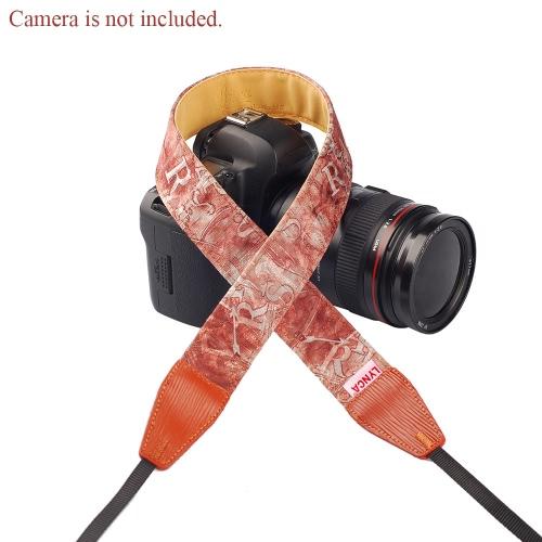 LYNCA Uniwersalne ramię aparatu Pasek na szyję pasek Cotton Superior Skóra Materiał na lustrzankę DSLR Canon Nikon