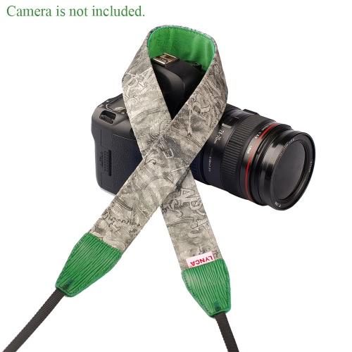 LYNCA Universal Camera Pasek Pasek Pasek Bawełniany Superior Materiał Skóra dla Lustrzanki DSLR Canon Nikon