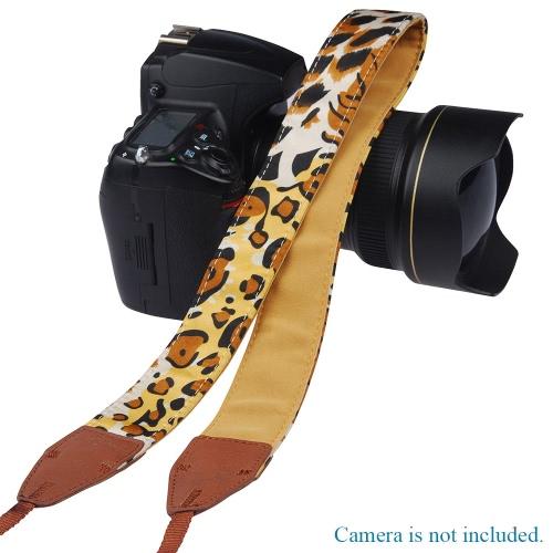 Seria LYNCA Leopard Uniwersalny pasek na ramię Pasek Bawełniany Superior Cowhide Materiał do lustrzanki DSLR Canon Nikon