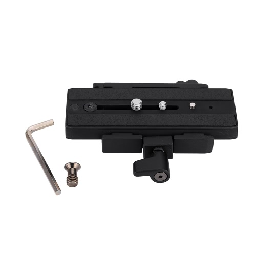 MH631 Quick Release Adapter with MH611 Long Sliding Plate Compatible with Giottos 357PLV for Camera Tripod Head