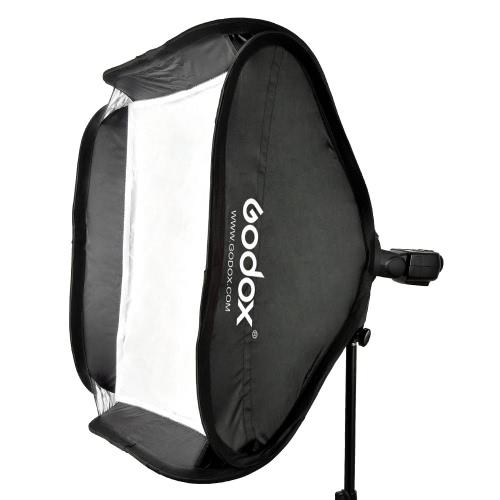 Godox 80 * 80cm / 31 * 31inch Flash Softbox Diffusor mit S-Bügel Bowens Halterung für Speedlite-Blitzlicht