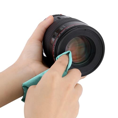Andoer® Reinigungstuch Bildschirm Glas Objektiv Reinigungsmittel für Canon Nikon DSLR-Kamera Camcoder iPhone iPad Tablet-Computer
