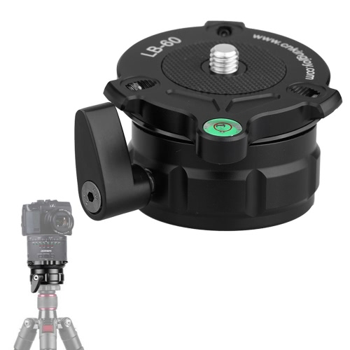 69mm Speedy Adjustable Leveling Base Panning Level with Offset Bubble Level for All Tripods with 1/4