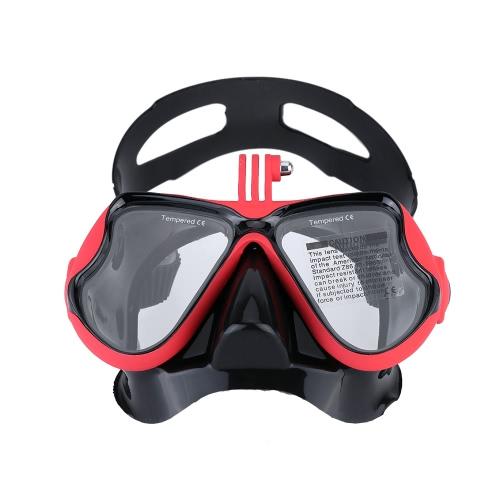 Maska do nurkowania Nurkowanie Gogle Basen Maseczka z uchwytem do montażu GoPro Hero 4 3+ 3 2 1 SJCAM SJ4000 SJ5000 Dazzne P2 Xiaomi Yi Sports działania aparatu fotograficznego