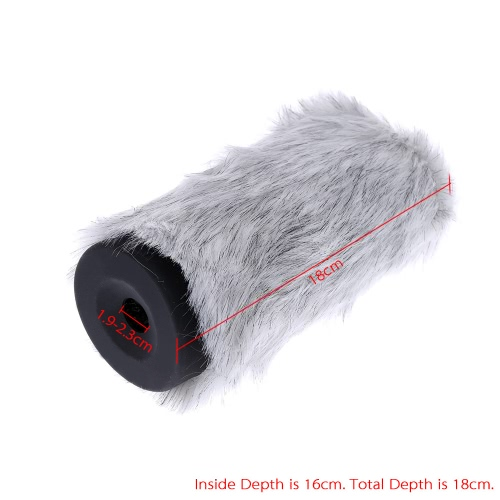 BOYA Furry Outdoor Interview Microphone Windshield Windscreen Muff for Capacitor Microphone