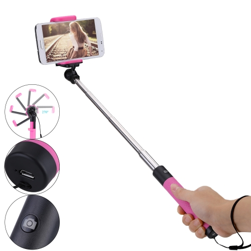 Pocket Extendable Selfie Stick with Wireless Bluetooth Remote Control Selfie Stick Portable SelfTimer Handheld Monopod for iPhone6 6Plus/Samsung S6/HTC/LG/SONY Cellphones