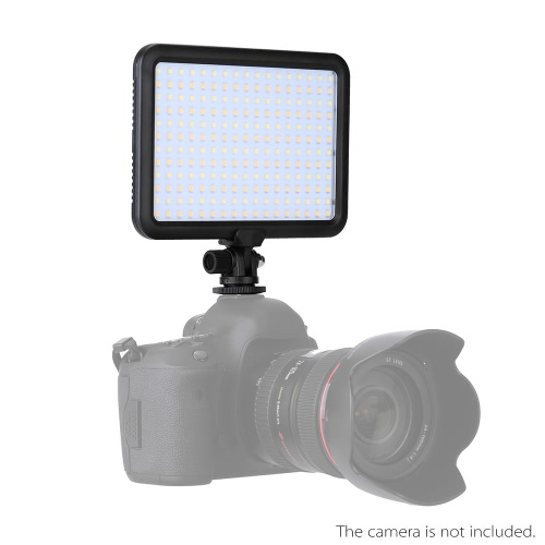 Triopo TTV-204 Ultra Thin Sprzęt fotograficzny Kamera wideo panel LED lampa 3200K ~ 5500K Ściemnialny do Canon Nikon Pentax DSLR Camera kamery wideo Fit for Sony NP-F, NP-FM NP-H Series bateria AA pakietu baterii