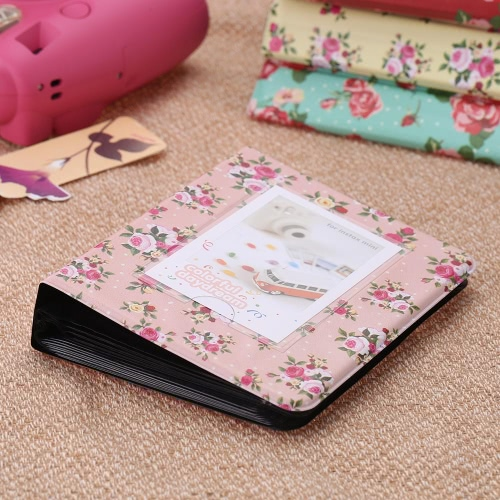 64 Pockets Camera Photo Album Holder Vintage Retro Rose Pattern Book Style Album for Mini Fuji Instax  Name Card 7s 8 25 50s 90 LG PD233 PD221 PD239