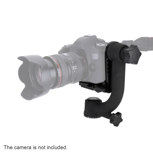 PRO 360-degree Panorama Gimbal Tripod Head Bird-Swing with Standard Quick Release Plate for Telephoto Lenses Canon Nikon Sony Heavy-Duty
