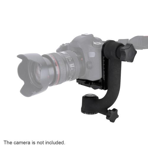PRO 360-градусной панорамы карданного Штатив голова птица качели с стандартным быстрый релиз пластина для телеобъективов Canon Nikon Sony тяжелых