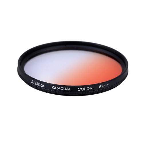 Andoer GND Graduated Orange 67mm Filter Graduated Neutral Density Filter for Canon Nikon DSLR 67mm Camera Lens