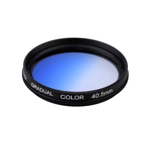 Andoer Professional GND Graduated Blue 40.5mm Filter Graduated Neutral Density Filter for Canon Nikon DSLR 40.5mm Camera Lens