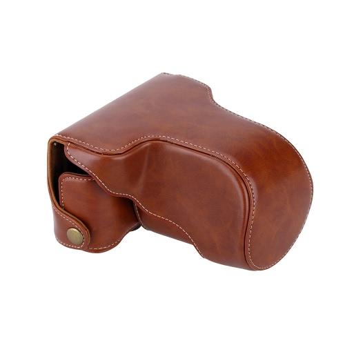 Andoer ® Klassische PU Leder Kamera Tasche Schutztasche mit Strap für Fuji Fujifilm X-A1-A2 X X-M1 X-A3