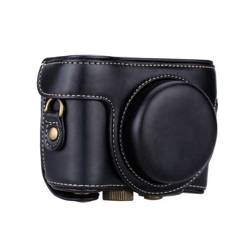 Shoulder Strap PU Leather Camera Case Bag Protective Pouch with 1/4 Screw for Sony Cyber-Shot DSC-HX50 DSC-HX60