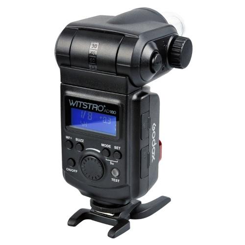 Godox WITSTRO AD180強力&ポータブル180Wの外部フラッシュスピードライト デジタル一眼レフキヤノン、ニコン、ペ  ンタックス、オリンポスなどに適用 【並行輸入品】