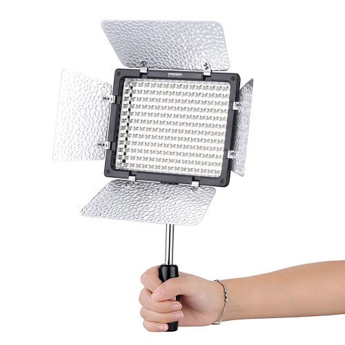 Yongnuo Pro YN-160 III 192 LEDs Video Studio Photography Light Lamp Adjustable Color Temperature 3200K-5500K for Canon Nikon Sony Pentax Olympus Camcorder DSLR Camera with Color Plates