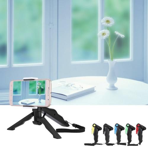 Andoer 2 in 1 Mini Portable Folding Tischstativ Ständer + Handheld Grip für GoPro Hero 4/3 + / 3/2/1 DC DSLR SLR Kamera und Smartphone