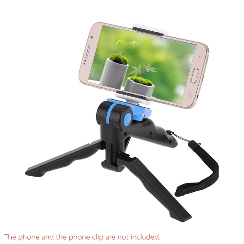 Andoer 2w1 Mini Portable Folding Table-top Statyw + Grip Handheld dla GoPro Hero 4/3 + / 3/2/1 DC lustrzanki SLR i Smartphone