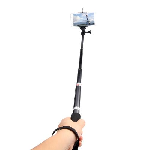 Andoer Portable Handheld Extendable Telescopic Monopod Selfie Stick Alumínio Alloy