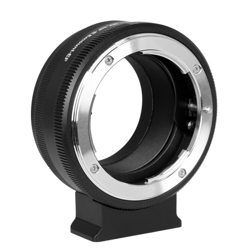 MeiKe MK-NF-E Manual Focus Lens Mount Adapter Ring All Metal for Nikon F Lens to Sony Mirrorless E Mount Camera 3/3N/5N/5R/7/A7 A7R Full Frame