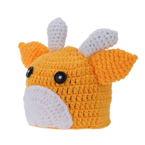 Cute Cow Newborn Infant Baby Soft Crochet Knit Cotton Costume Hat Accessory for Photography Prop Outfits