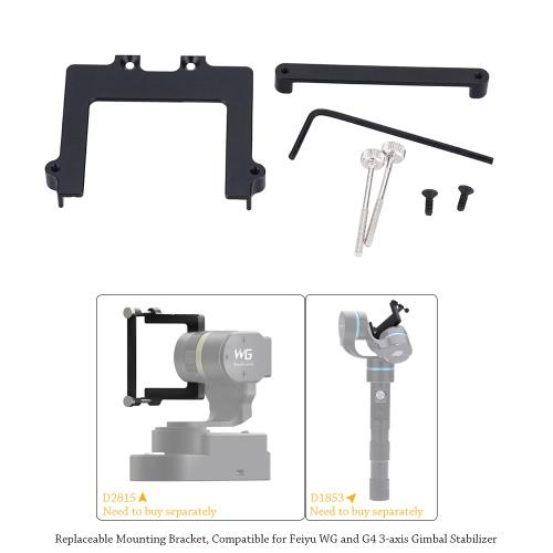 46 mm Set di Staffa di Montaggio Sostituibile di Fotocamera per Feiyu WG e G4 3-assi Stabilizzatore di Giunto Cardanico