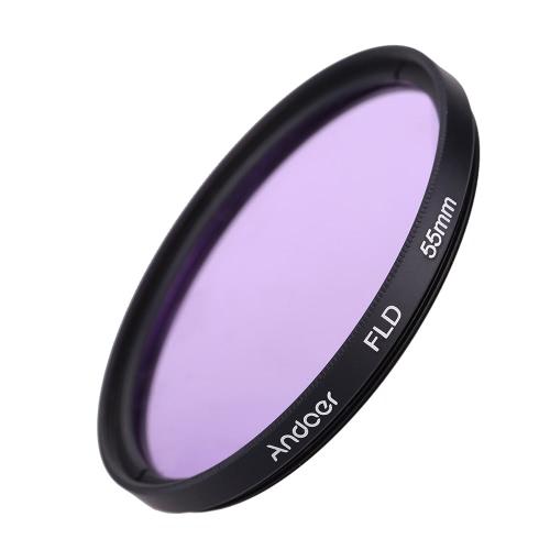 Andoer 55mm UV + CPL + FLD + ND (ND2 ND4 ND8) Комплект фильтров для фотосъемки Ультрафиолетовый круговой поляризационный флуоресцентный нейтральный фильтр плотности для Nikon Canon Sony Pentax DSLR D2875