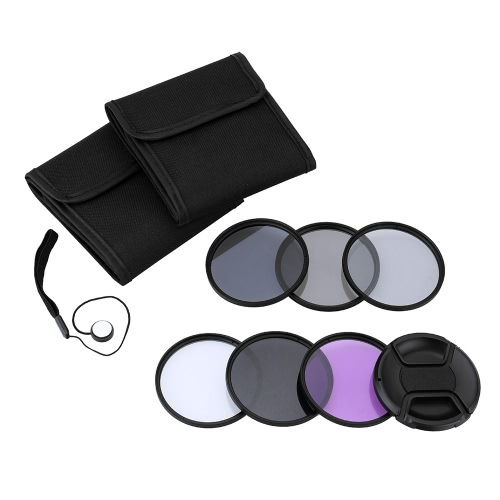 Andoer 55mm UV+CPL+FLD+ND(ND2 ND4 ND8) Photography Filter Kit Set Ultraviolet Circular-Polarizing Fluorescent Neutral Density Filter for Nikon Canon Sony Pentax DSLRs
