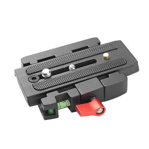 Adaptateur de pince de blocage rapide + dégagement rapide plaque P200 Compatible pour Manfrotto 501 500 Ah 701HDV 503HDV Q5