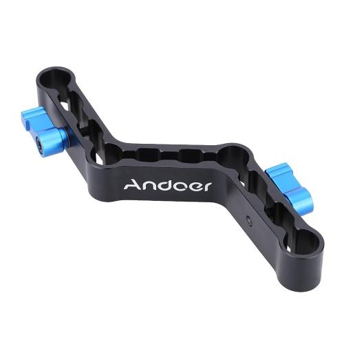 Andoer palancas ajustables Raiser compensación en forma de Z abrazadera soporte para barras de 15mm en Rig de hombro DSLR