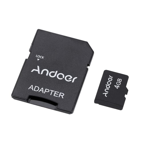 Andoer 4GB Class 10 Memory Card TF Card + Adapter + Card Reader USB Flash Drive for Camera Car Camera Cell Phone Table PC GPS